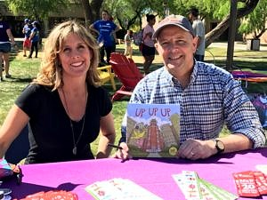 """Up Up Up"" Author Phoebe Fox & Illustrator Michael Hale"